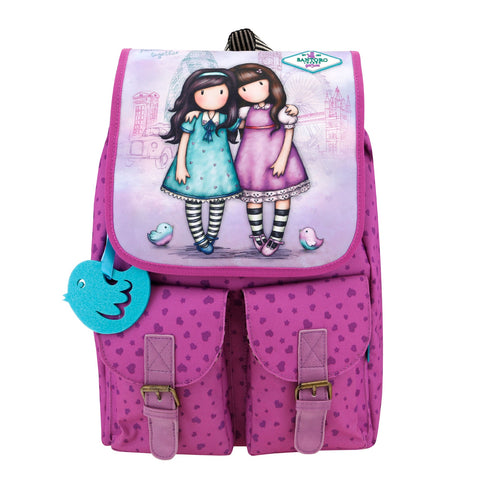 Gorjuss Cityscape Soft Rucksack - Friends Walk Together 7582