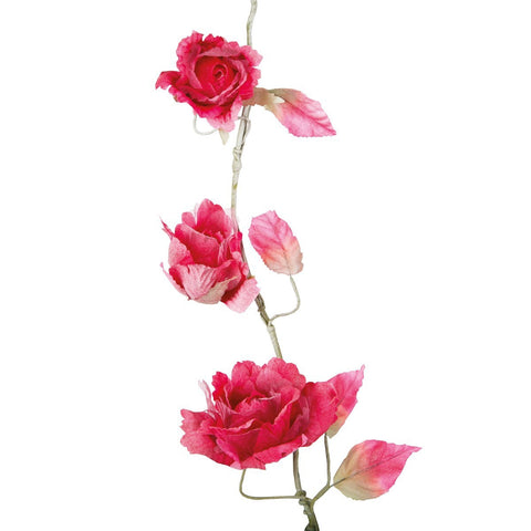 Vintage Rose Garland Berry Pink 6313