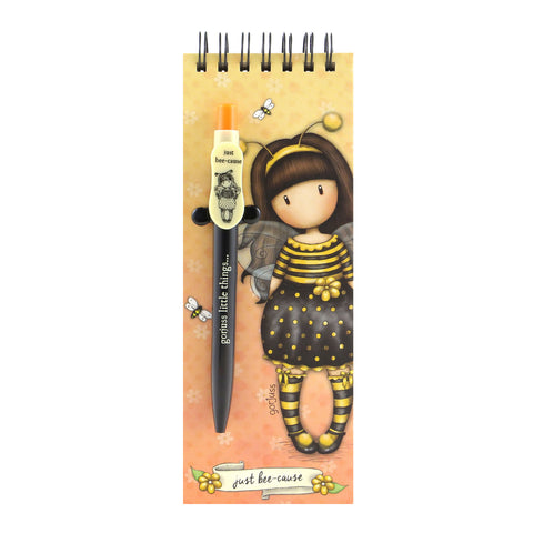 Gorjuss Jotter with Pen - Bee-Loved 8487