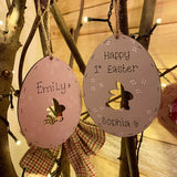 Easter Egg Plaque 10cm with Bunny Cutout 9813