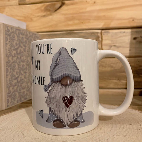Gnome Mug Blue - You're my Gnomie Personalised 10884