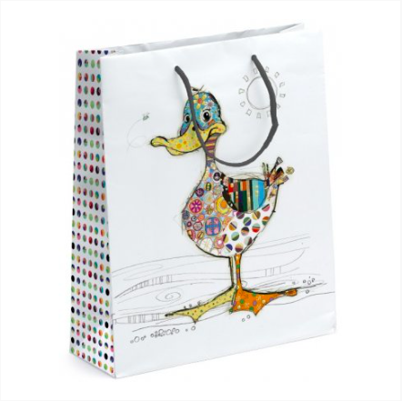 Bug Art Large Gift Bag - Dotty Duck 10834