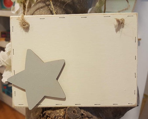 Sq Plaque with Star 8126