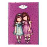 Gorjuss Cityscape Folder with Elastic Closure - Friends Walk Together 7609