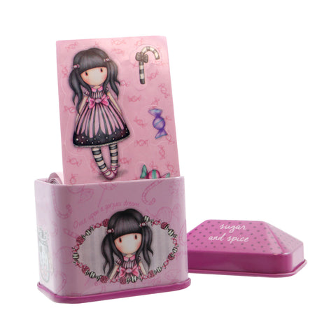 Gorjuss Trinket Tin with Sticker Roll - Sugar & Spice 7596