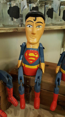 Wooden Superman 25cm 6761
