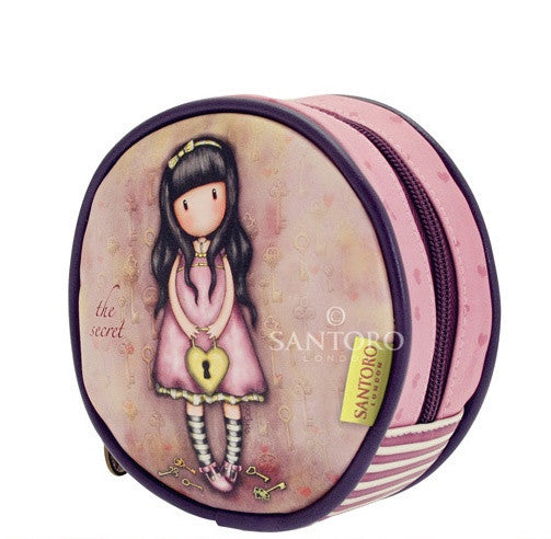Gorjuss Round Accessory Pouch - The Secret 6199