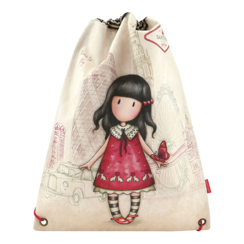 Gorjuss Drawstring Bag - Time to Fly 8090
