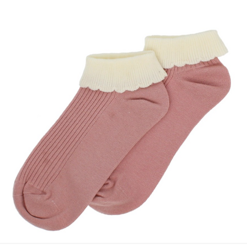 Forever England Ankle Sock - Cuff Trainer Pastel Pink 8308