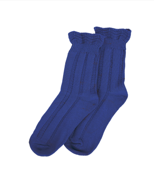 Forever England Ankle Sock - Ruffle Top Blue 8316