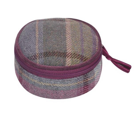 Earth Squared Tweed Jewellery Pouch  - Heather 8382