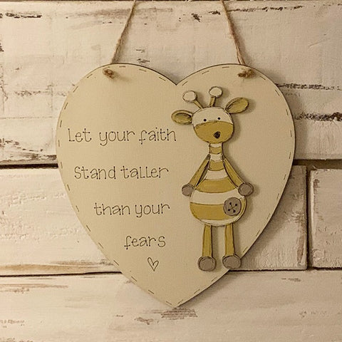 "Personalised Animal Range - 8"" Heart 8637"