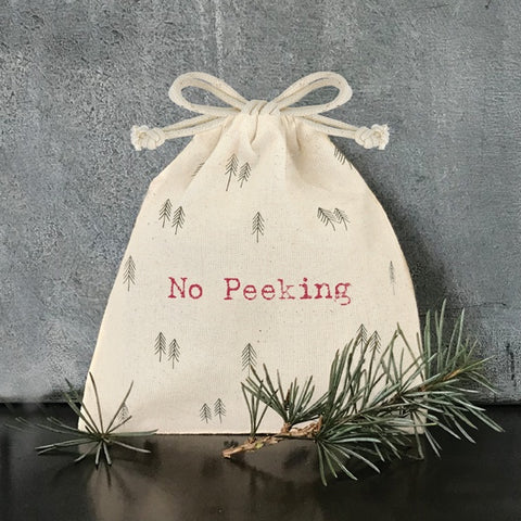 Drawstring Bag - No Peeking 10598