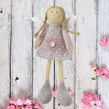 Standing Pink Angel Doll with Grey Dress 8883