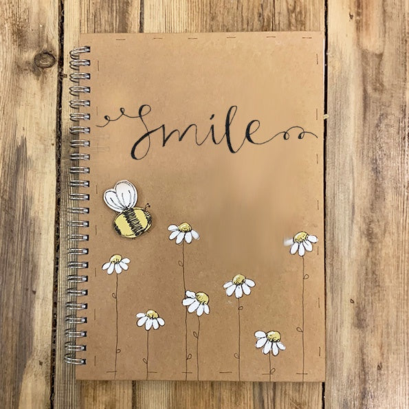 Handmade Notebook with Little Daisies - Smile 9896