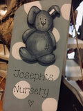 Personalised Door Hanger - Bunny Blue 8539