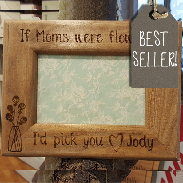 Personalised Engraved Sm Frame - Flowers 8554