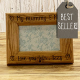 Personalised Engraved Sm Frame - Hearts 8555