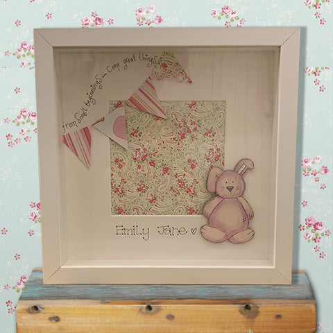 Personalised Sm Box Frame - Bunny & Bunting 8571