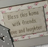 Personalised Wooden Frame Sign - Bless This House 8704