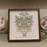 Personalised Family Tree in Sm Brown Frame 8707