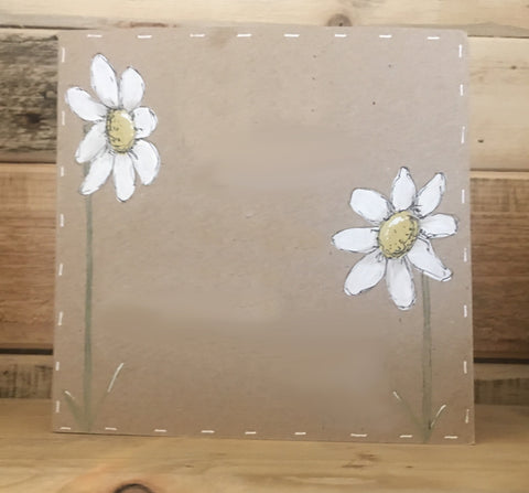Personalised Card / Postcard - Tall Daisies (Blank) 8723