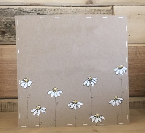 Personalised Card / Postcard - Little Daisies (Blank) 8724
