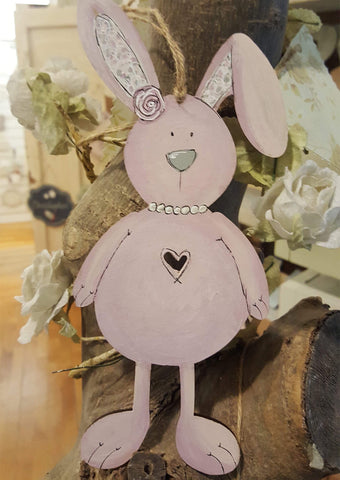 Personalised Bunny Plaque - Pink 8768