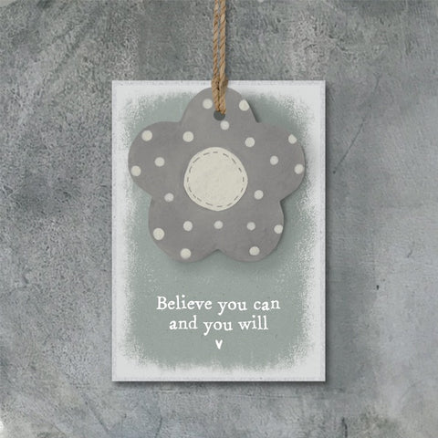 Dotty Flower Tag - Believe You Can 9137