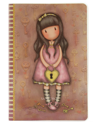 Gorjuss A5 Stitched Notebook - The Secret 6191