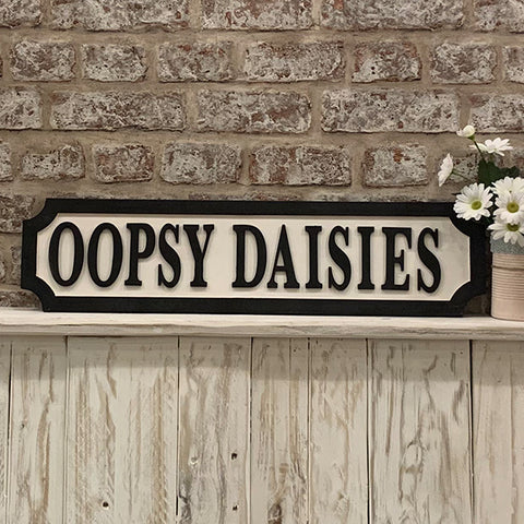 Personalised Road Sign - Black & White 8988