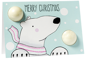 Christmas Card- Merry Christmas Polar Bear 6859