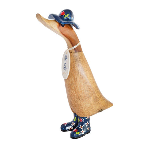 DCUK Duckling with Floral Hat & Welly Boot - Blue 9795