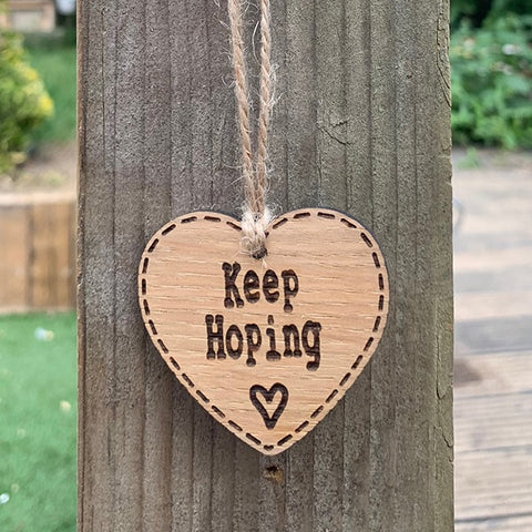 Handmade Little Sentiment Heart - Keep Hoping 9999