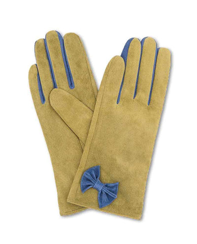 Glove - Gertrude Suede in Lime S/M 6875