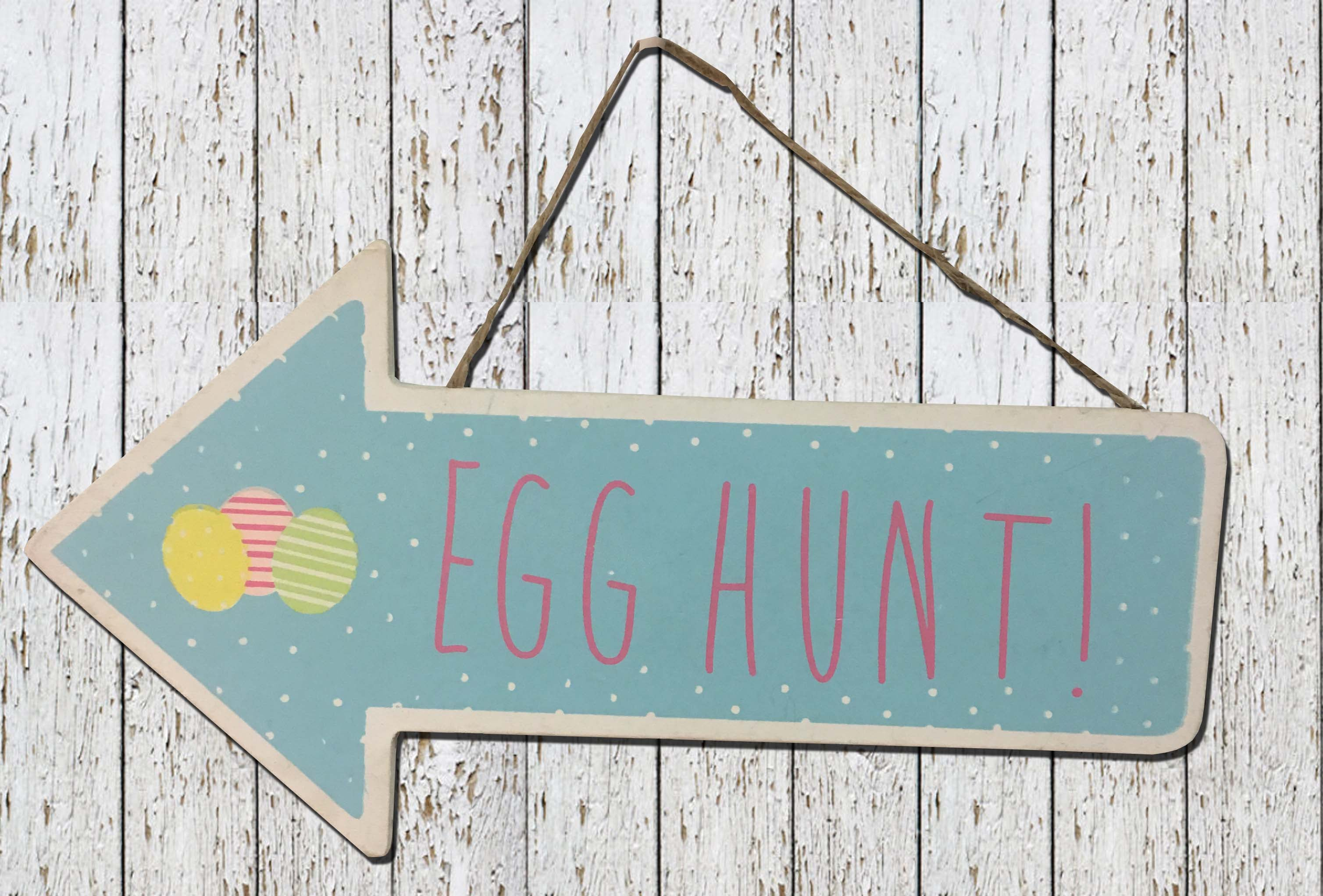 Personalised Easter Egg Gift Tag Easter egg Hunt wooden sign plaque with name
