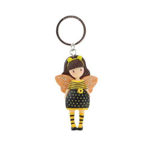 Gorjuss Moulded Keyring - Bee-Loved 8686