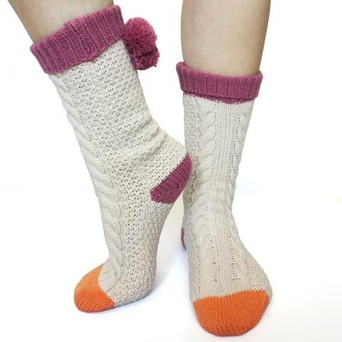 Disaster Cream Bobble Socks 9416