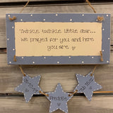 Personalised Long Plaque with 3 Stars 8718