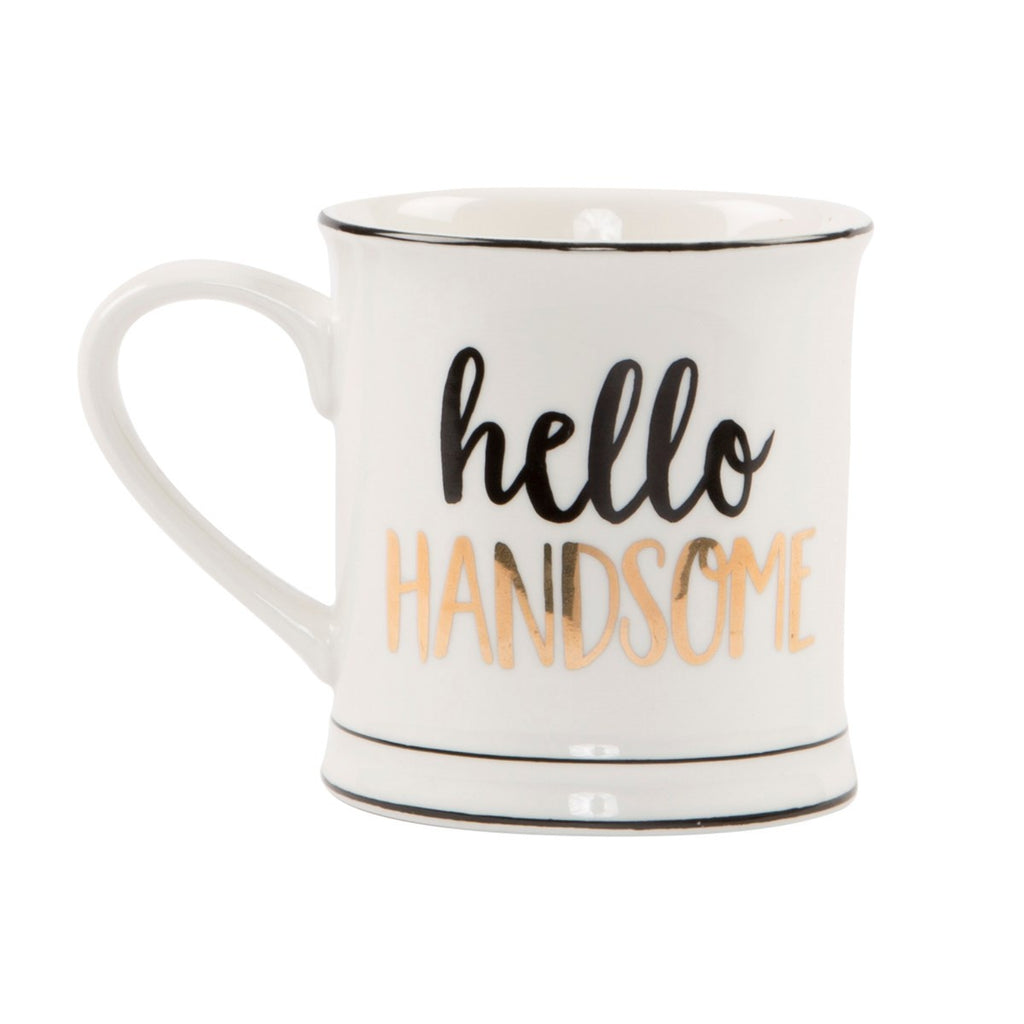 Metalic Monochrome Hello Handsome Mug 7172