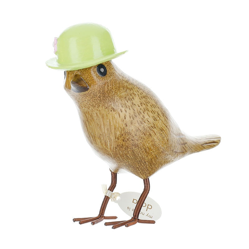 DCUK Garden Bird with Floral Hat - Green 9805