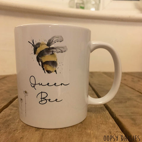 Bees & Daisies 11oz Mug - Queen Bee 10858