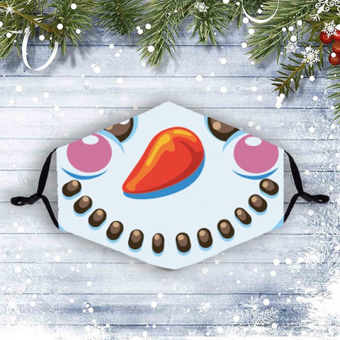 Christmas Face Mask with Filters- Snowman 10777