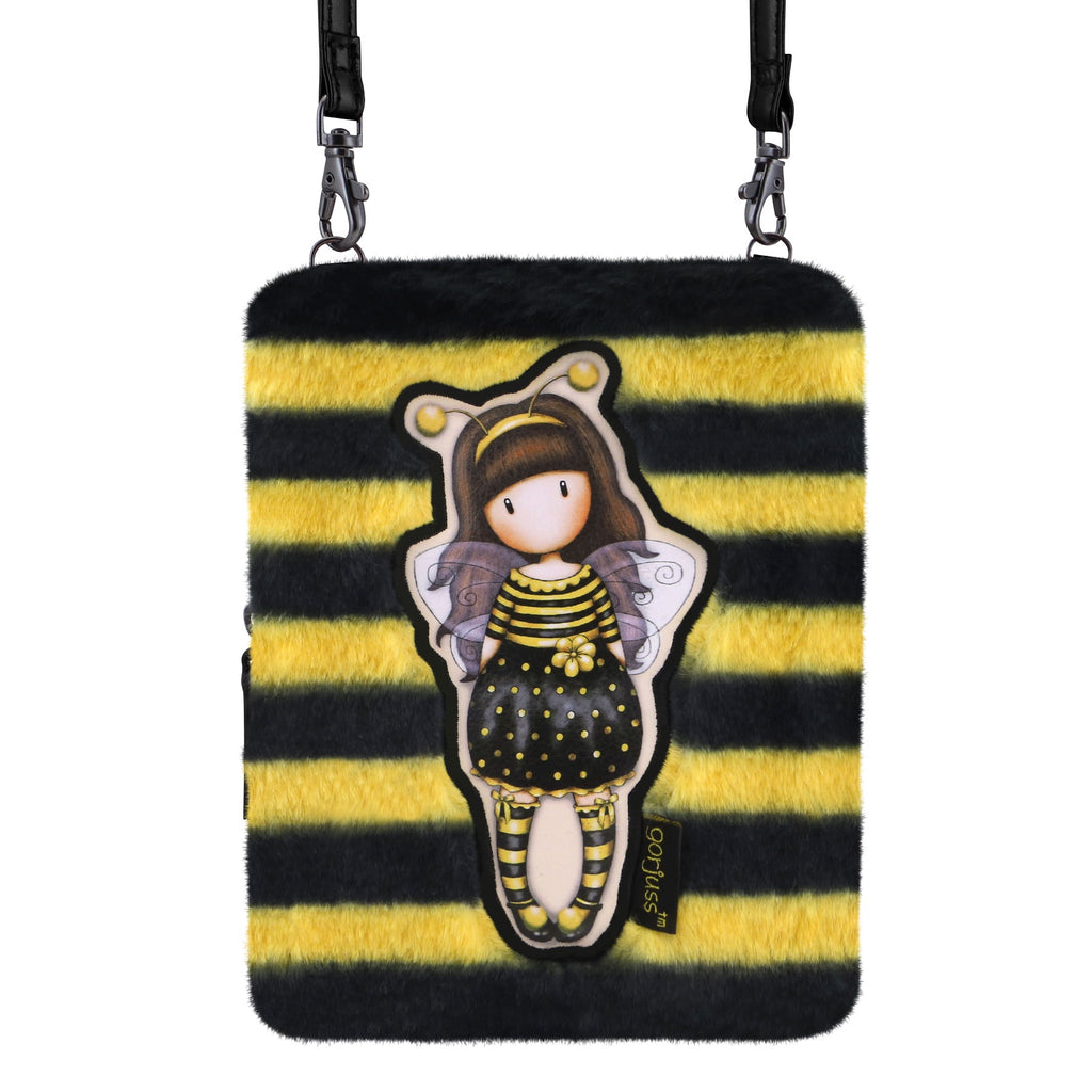 Gorjuss Furry Shoulder Bag - Bee-Loved 9015