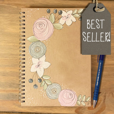 Personalised Notebook BLANK - Floral Wreath 9339