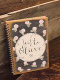Personalised Notebook - Sm Flowers & Circle 9341