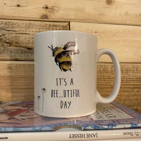Bees & Daisies 10oz Mug - Bee-utiful Day 10712