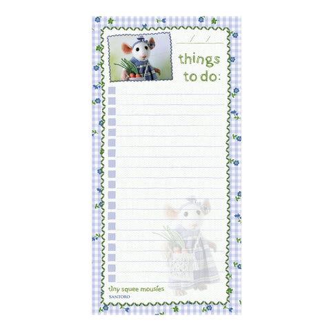 Tiny Squee Mousies Planner Magnetic List Pad - If Friends were Carrots 9515