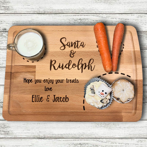 Personalised Santa & Rudolph Board 9531