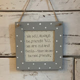 Personalised Square Frame Plaque - Blank 9548
